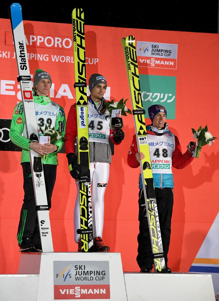 Prevc and Kot share FIS Ski Jumping World Cup victory in Sapporo