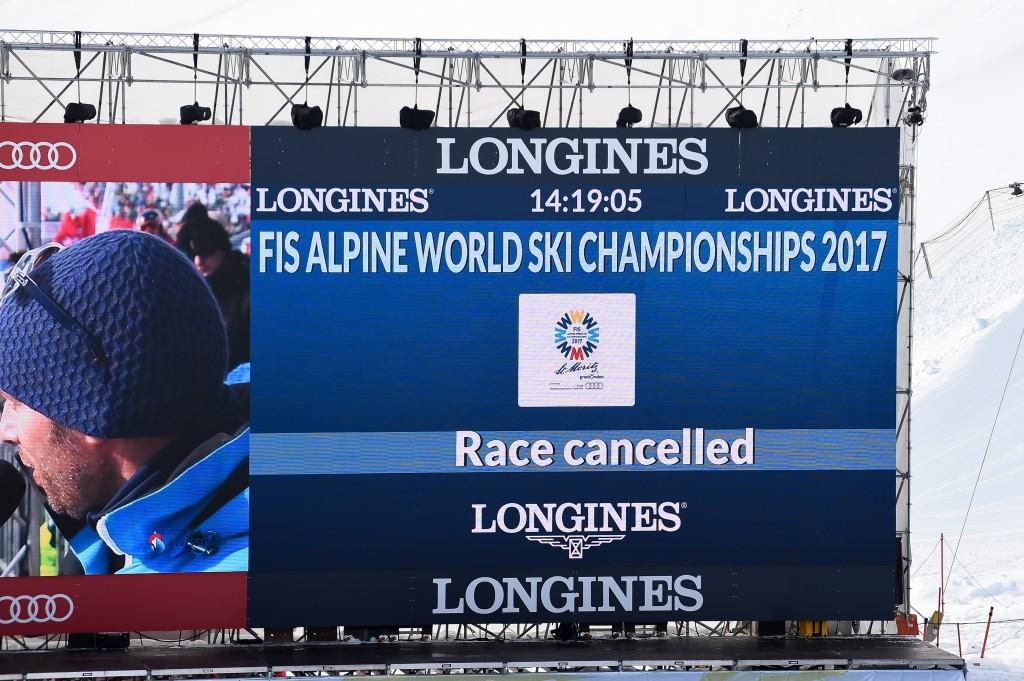 Fog postpones men's downhill at FIS Alpine World Championships