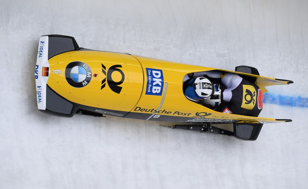 Francesco Friedrich is well poised to win the two-man bobsleigh title at the World Championships ©Getty Images