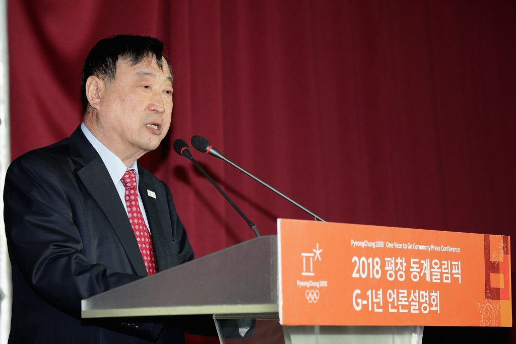 Pyeongchang 2018 President Lee Hee-beom confirmed the appointment of Hanjin Logistics ©Getty Images