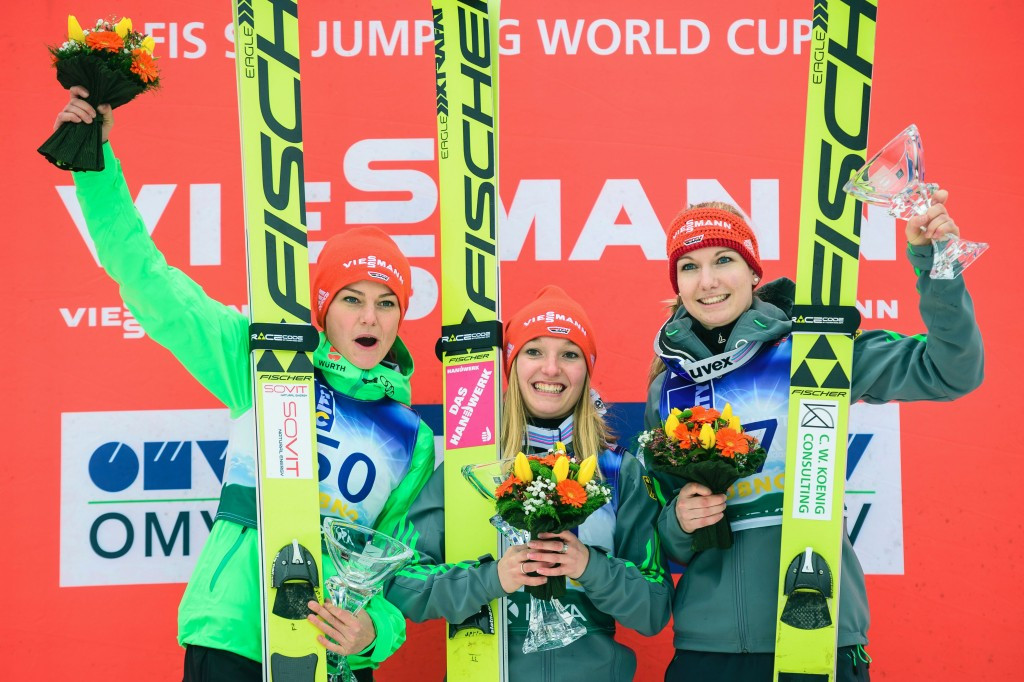 Germany make history with women's 1-2-3 at FIS Ski Jumping World Cup