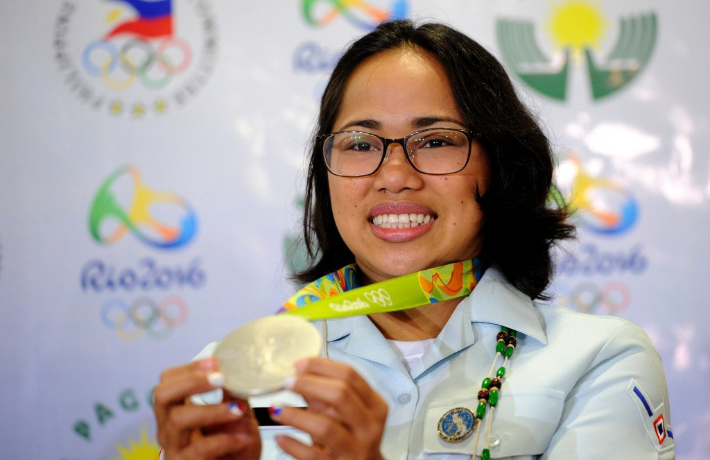 Hidilyn Diaz will receive the Athlete of the Year award ©Getty Images