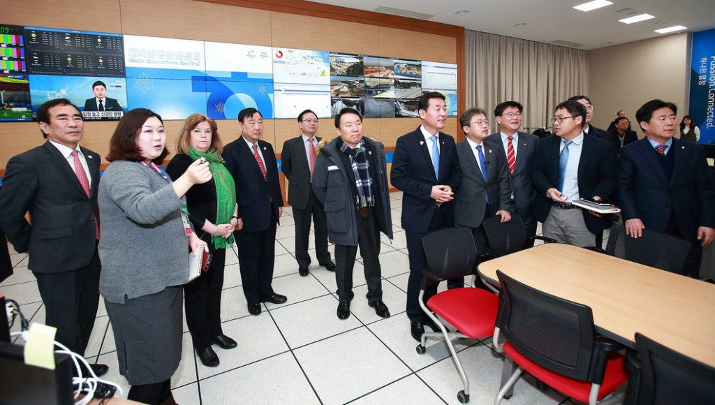 The Pyeongchang 2018 main operations centre was among the key areas toured by the Commission ©Pyeongchang 2018