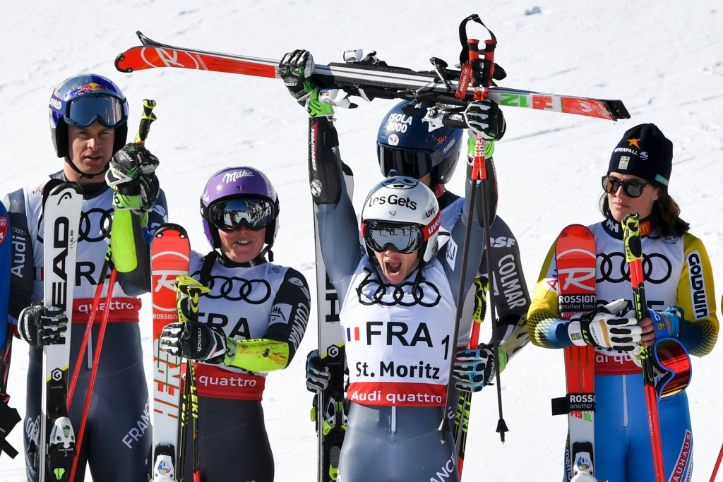 France collect first medal of FIS Alpine World Championships with team gold