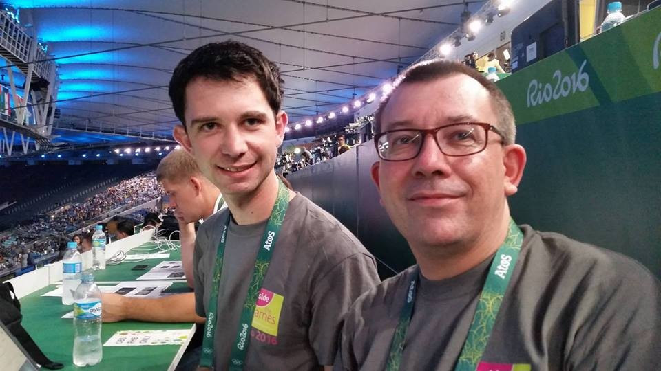 Nick Butler and Duncan Mackay at the Opening Ceremony of the Rio 2016 Olympic Games