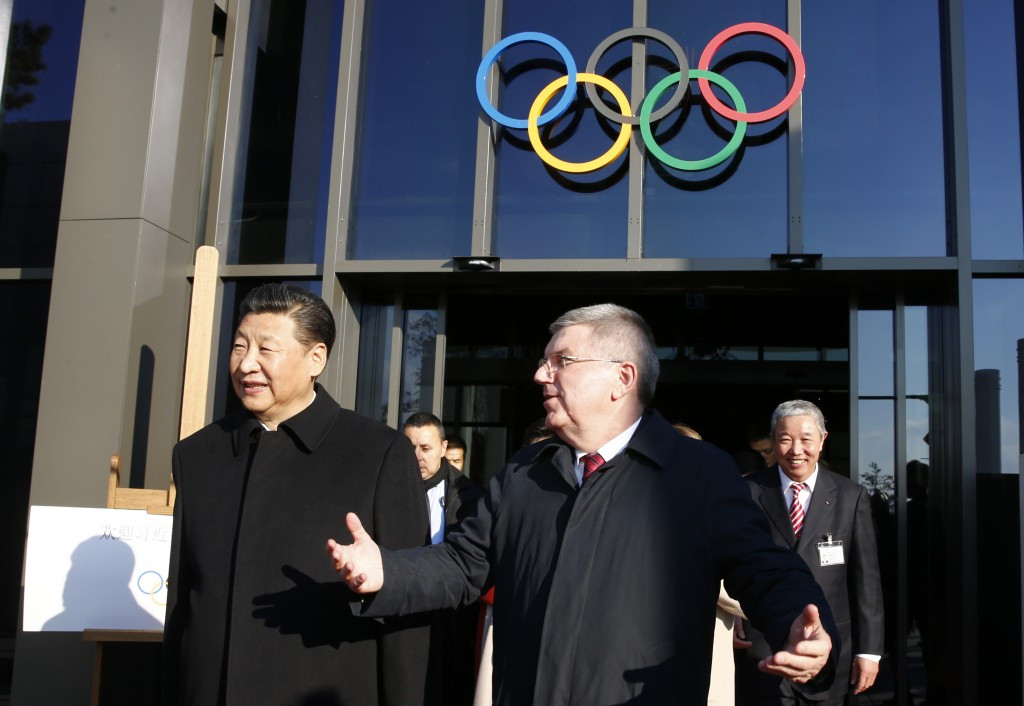 IOC President Thomas Bach, right, is due to open the forum at the Olympic Museum ©Getty Images