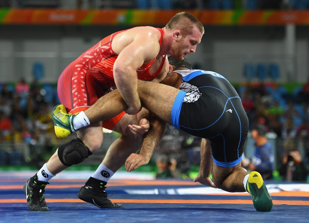 Kyle Snyder, left, is a member of the United States team ©Getty Images