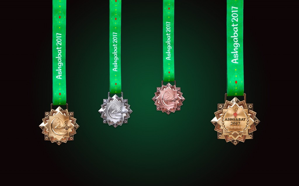 The medals that will be used during the fifth Asian Indoor and Martial Arts Games in September have been revealed ©Ashgabat 2017