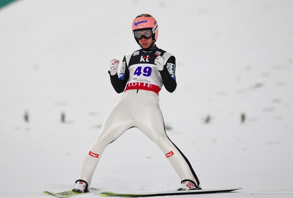 Austria's Stefan Kraft triumphed in the men's event ©Getty Images