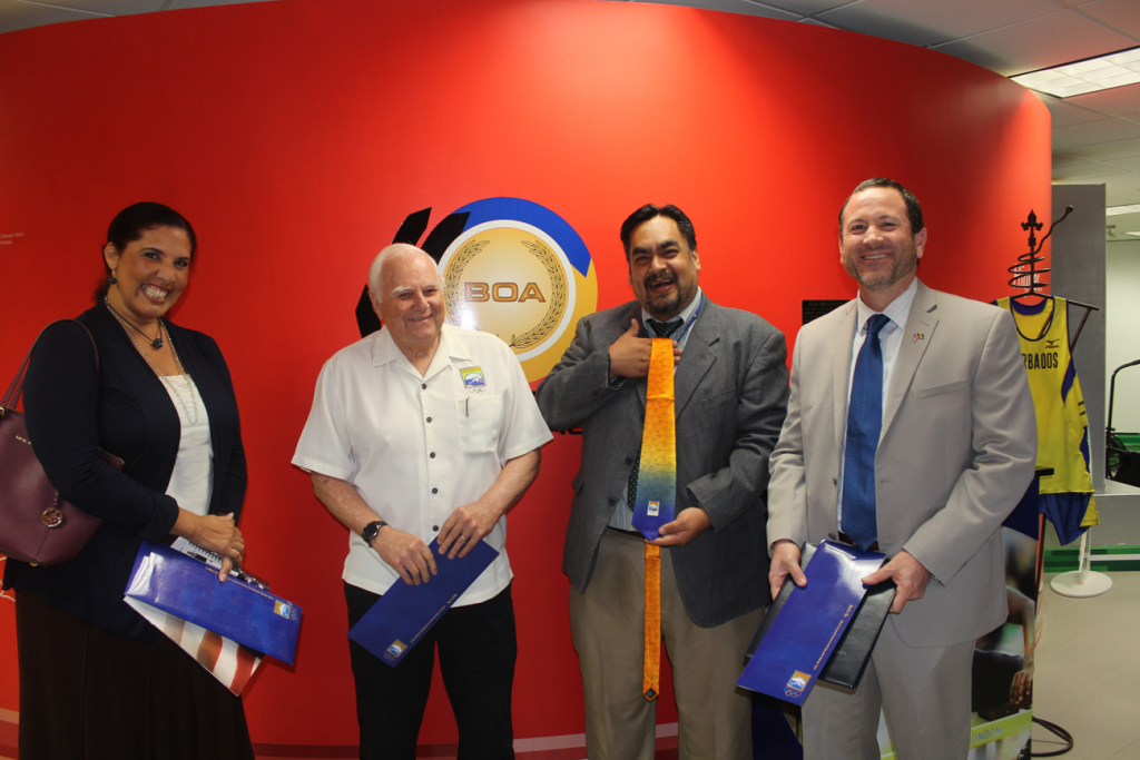 The Barbados Olympic Association hosted three representatives from the United States Embassy ©BOA