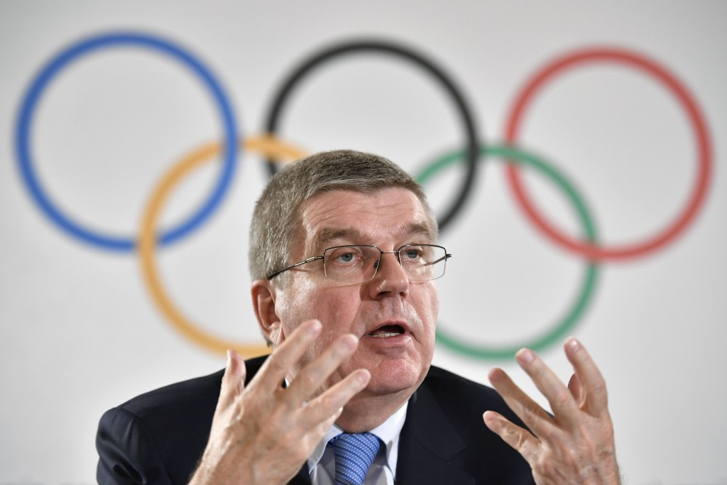 IOC President Thomas Bach has appeared privately supportive and publicly ambiguous about the 2024 and 2028 Olympics being awarded together at this year's Session in Lima in September ©Getty Images