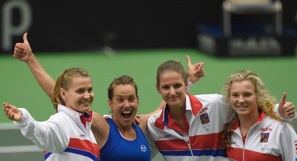 Defending champions Czech Republic made it through to the Fed Cup semi-finals ©Getty Images