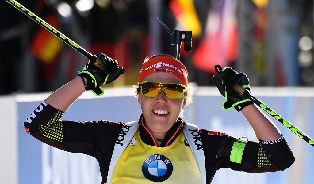 In pictures: Dahlmeier brings up hat-trick of gold medals at 2017 IBU World Championships