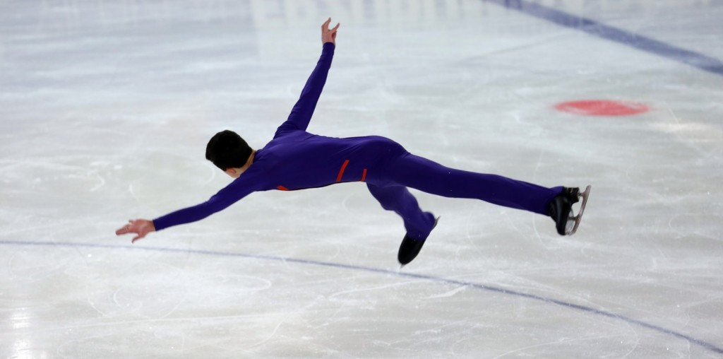 The boys' figure skating competition also concluded today ©EYOF