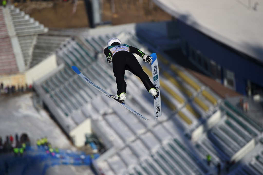Sara Takanashi achieved a record equalling 53rd Ski Jumping World Cup victory ©Getty Images
