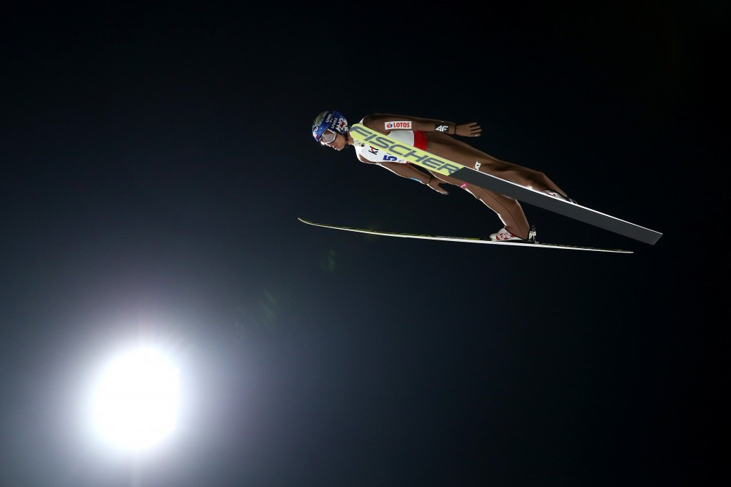 Maciej Kot won the men's event with two fine jumps ©Getty Images