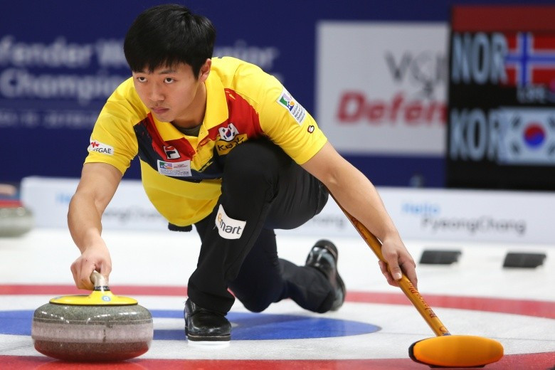 South Korea won their opening match of the men's tournament ©WCF