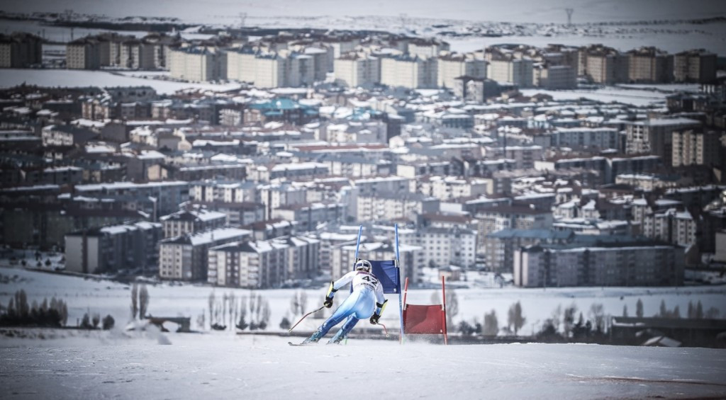 There was only one Alpine skiing event today ©EYOF