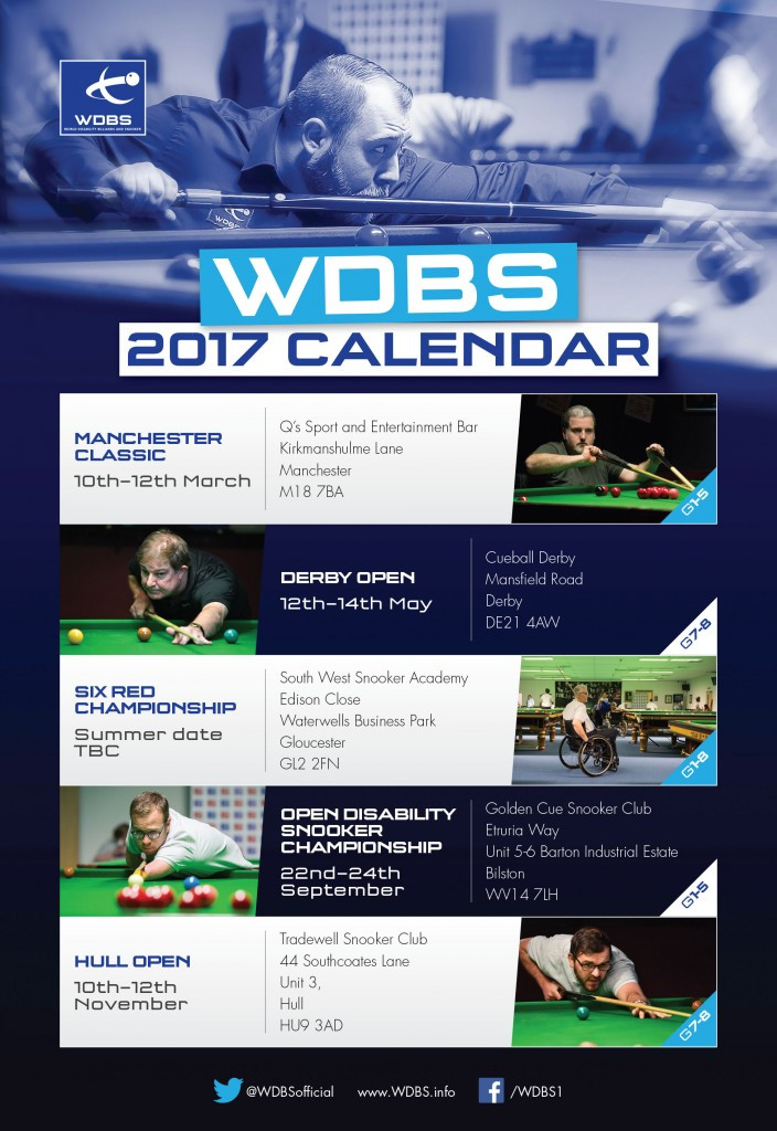 The WDBS has confirmed its competition calendar for this year ©WDBS