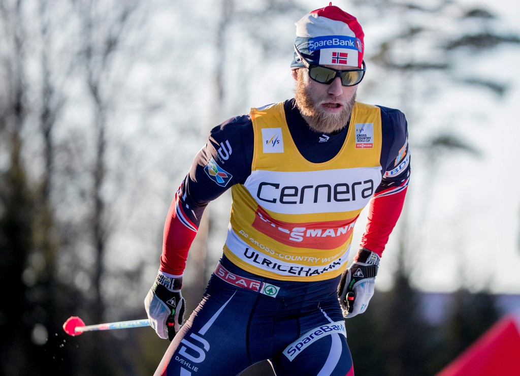 Norway's Martin Johnsrud Sundby currently leads the overall men's FIS Cross-Country World Cup standings ©Getty Images