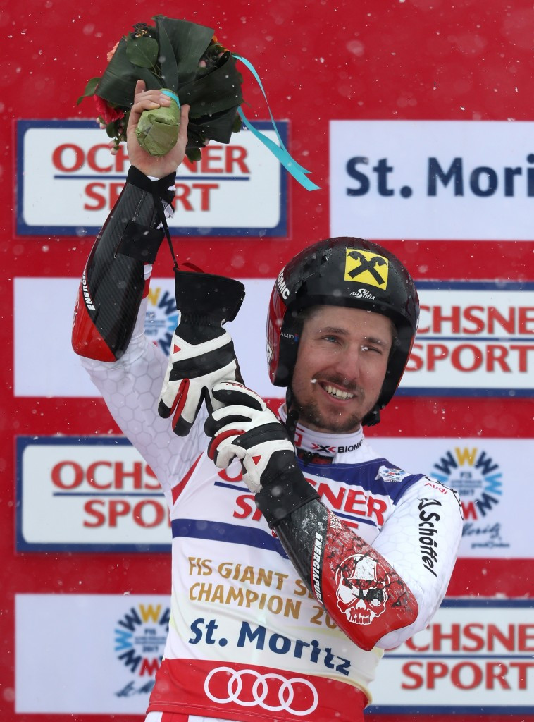 Austria's Marcel Hirscher won the men's giant slalom gold at the FIS World Alpine Skiing Championships today ©Getty Images