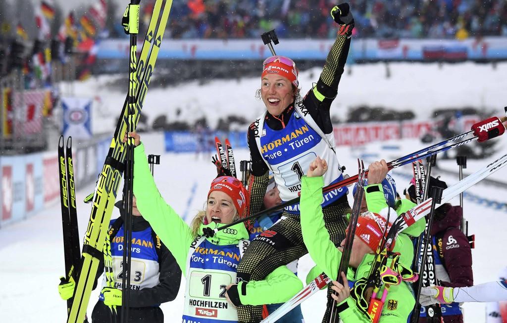 Germany claim women's relay gold at IBU World Championships