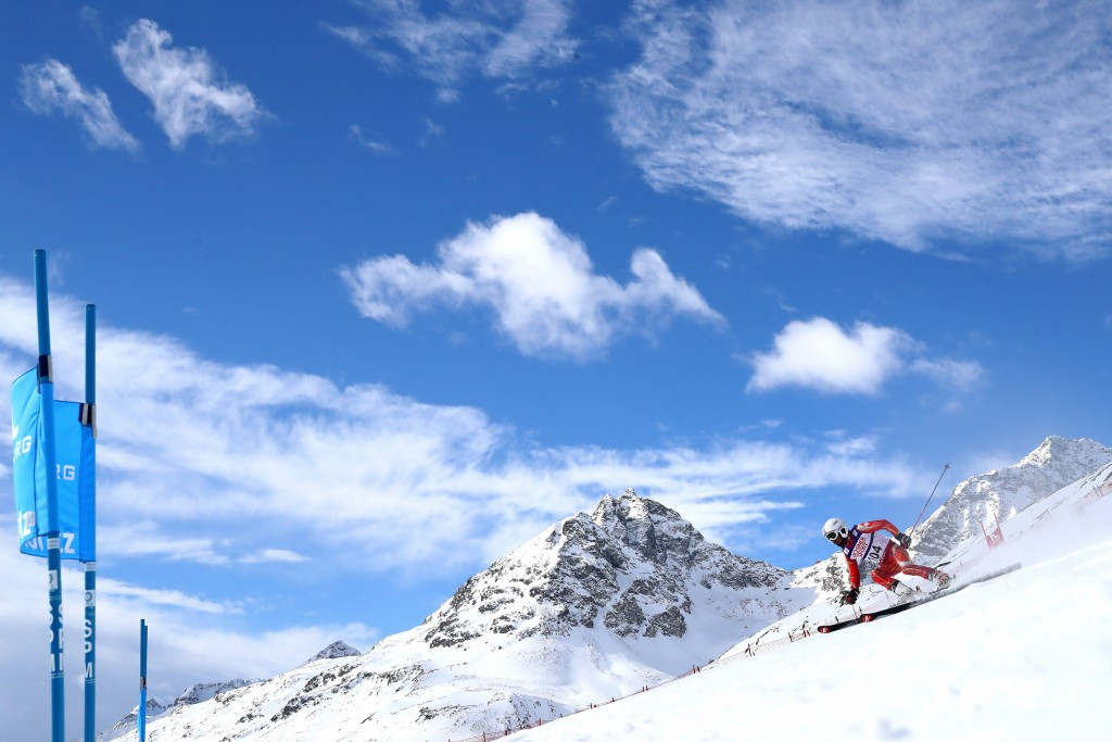 Athletes competed under partly cloudy skies in the first run before light snowfall started in the second ©Getty Images