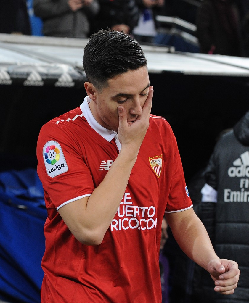 Sevilla midfielder Samir Nasri, on loan from Manchester City, is currently under investigation from the AEPSAD for his use of an IV drip in Los Angeles ©Getty Images