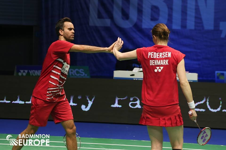 Denmark reach semi-finals of European Mixed Team Badminton Championships