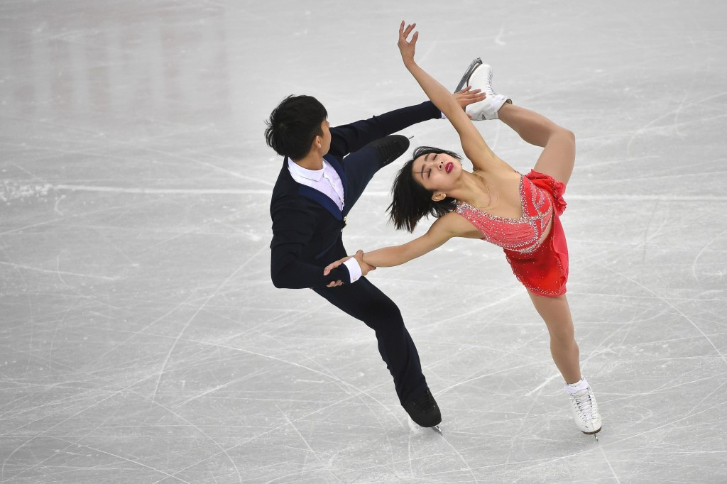 Wenjing Sui and Cong Han triumphed in the pairs competition ©Getty Images