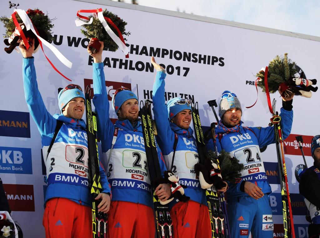Shipulin seals men's relay gold for Russia at IBU World Championships