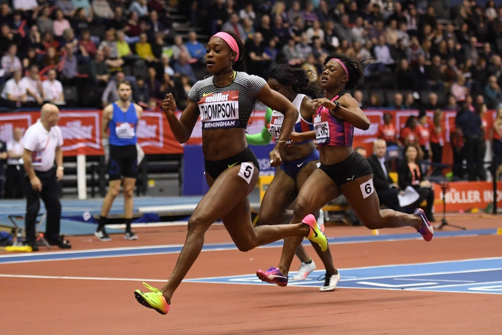 Two-time Olympic champion Elaine Thompson of Jamaica comfortably won the women's 60m ©Getty Images