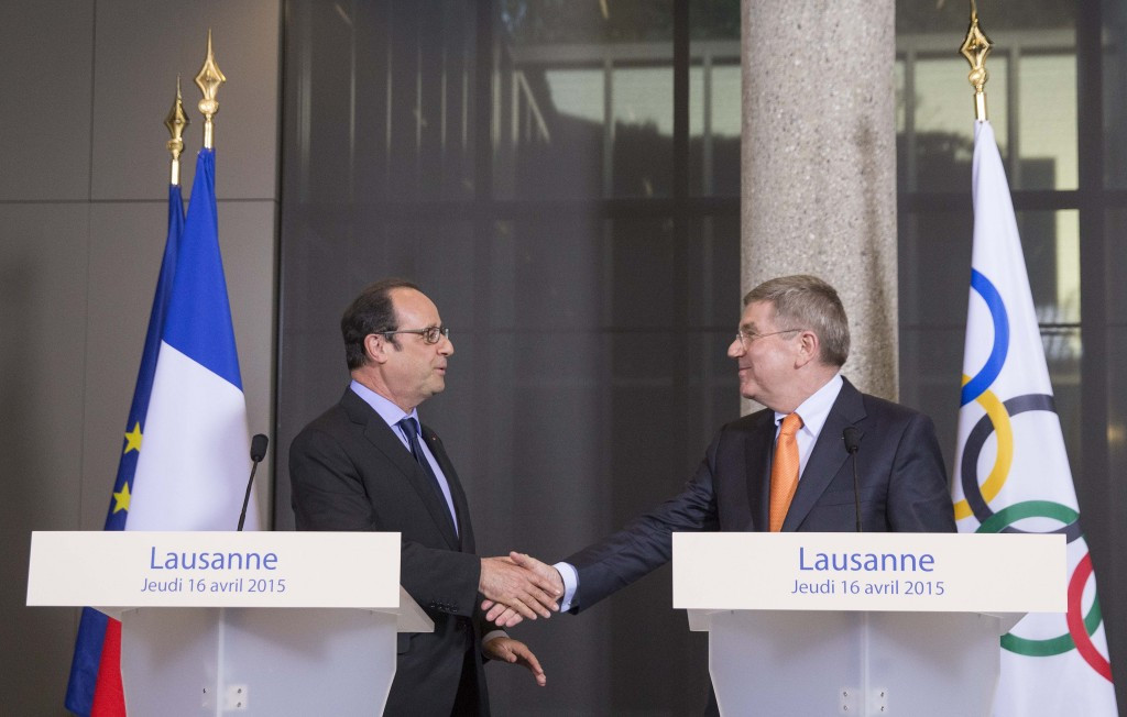 """Bach tells Hollande that France has """"lot to offer to the Olympic Movement"""" as praises Paris 2024 bid"""