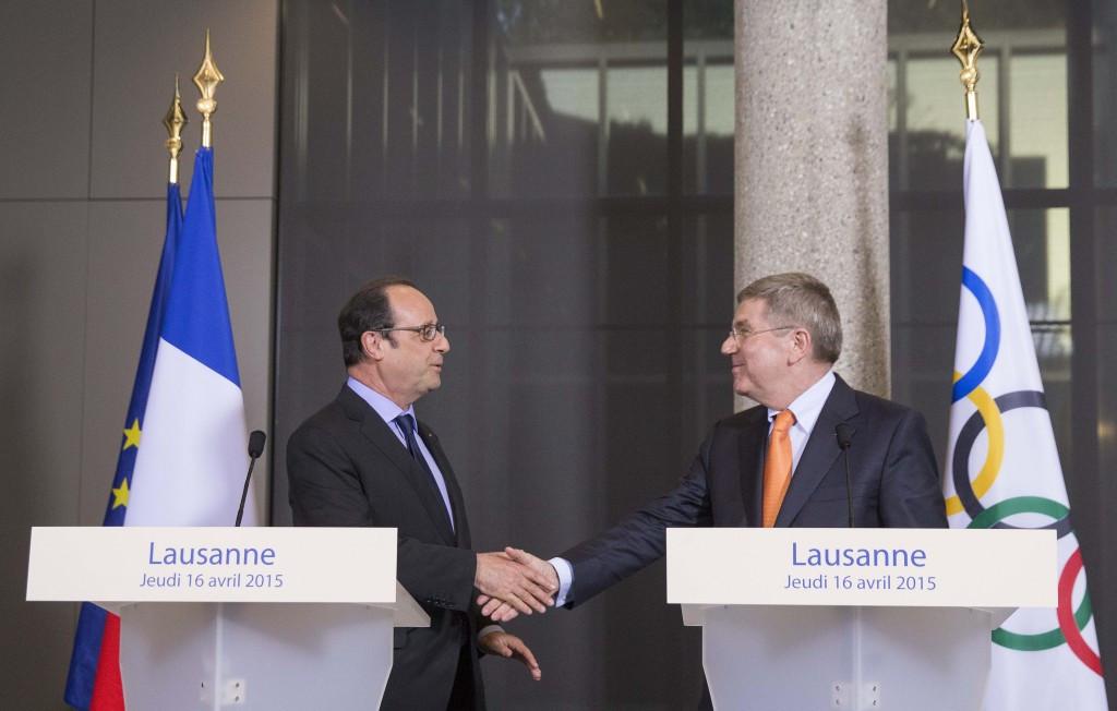 Bach tells Hollande that France has