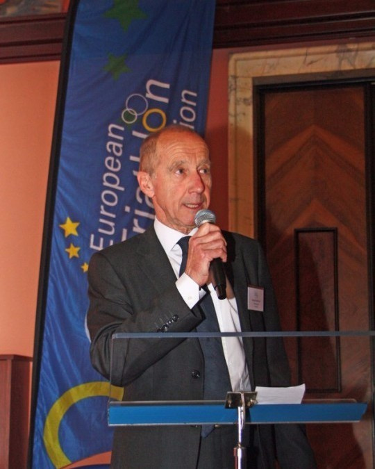 Italian Renato Bertrandi has been re-elected as the President of the European Triathlon Union during the organisation's Congress in Rome ©ETU/Twitter
