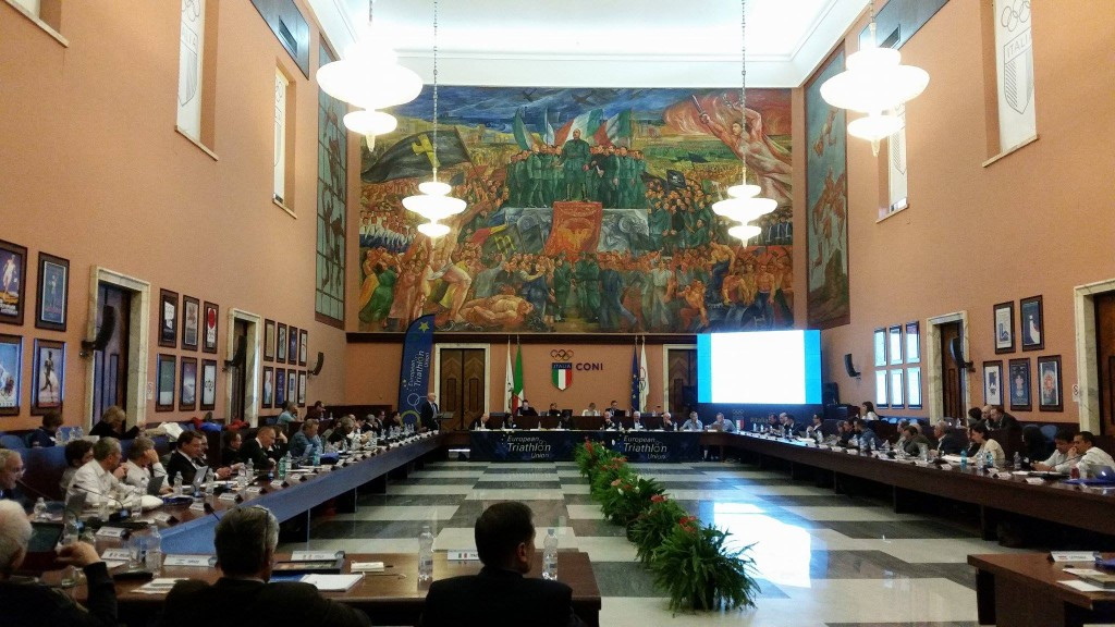 The 2017 ETU Congress was held at the home of the Italian National Olympic Committee ©ETU