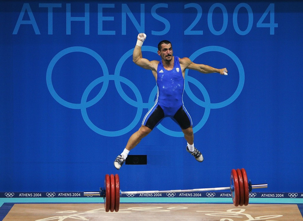 Greece's Pyrros Dimas is a triple Olympic gold medallist ©Getty Images