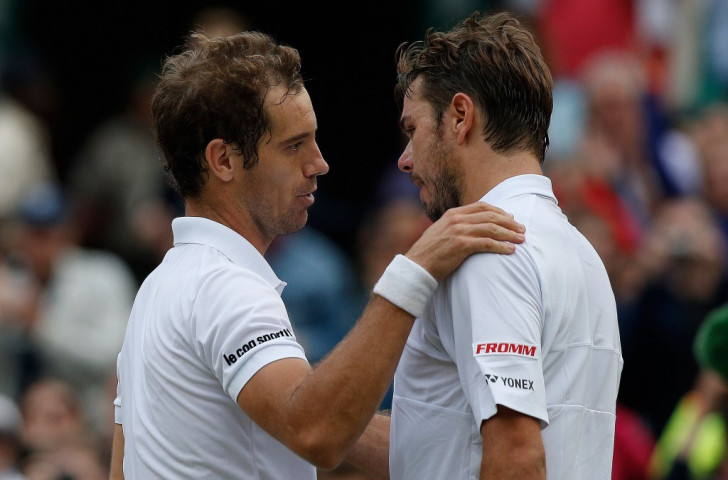 Gasquet outlasts Wawrinka to join leading trio in Wimbledon semi-finals