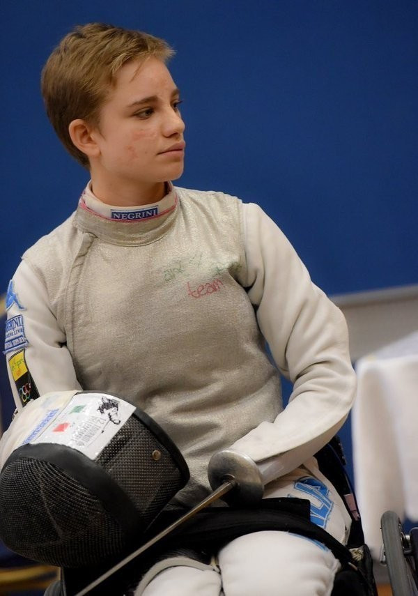 Beatrice Vio led Italy to team gold this afternoon ©IWAS Fencing/Twitter