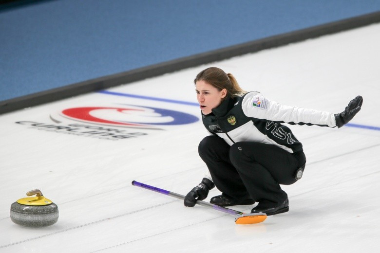 Russia skip Maria Baksheeva guided her team to a first win today ©WCF/Richard Gray