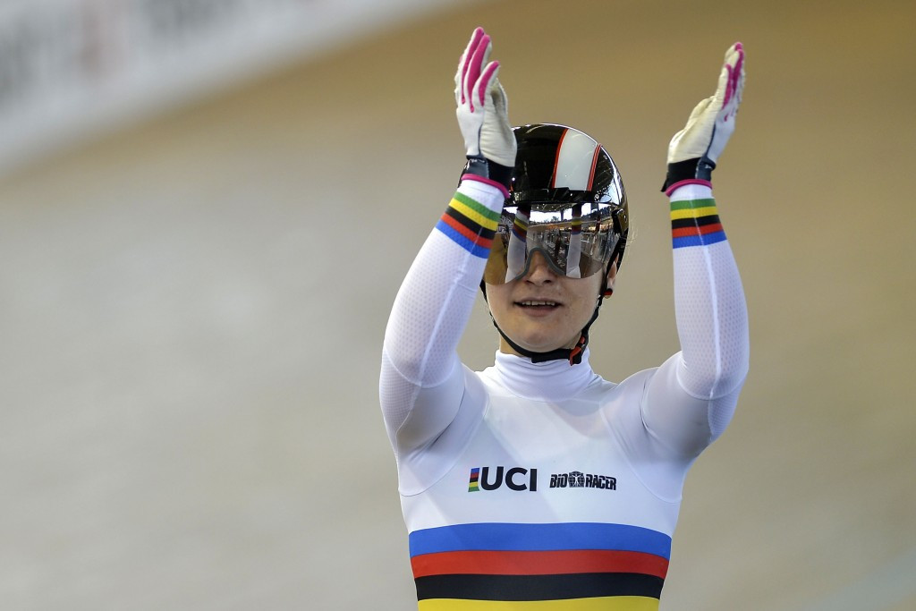 Vogel claims golden hat-trick at UCI Track Cycling World Cup