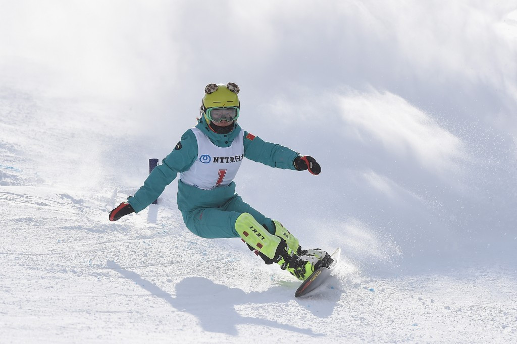 China's Zang Ruxin earned her first Asian Winter Games gold medal with victory in the women's snowboard slalom event after finishing second in the giant slalom yesterday ©Getty Images