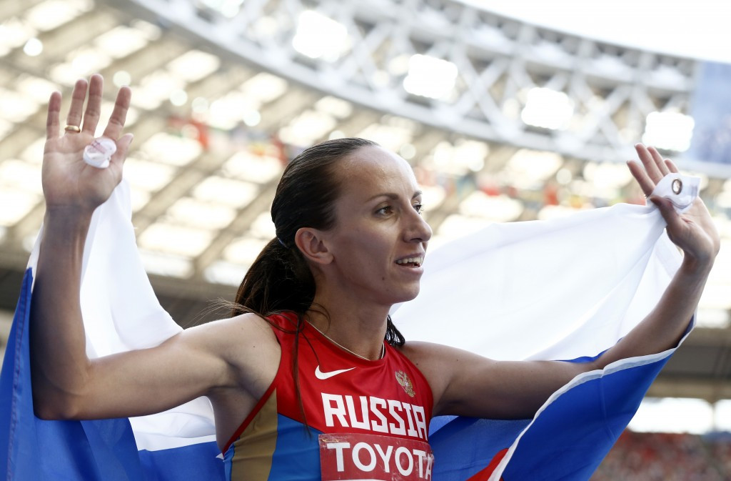Mariya Savinova faces losing her European Athlete of the Year prize ©Getty Images