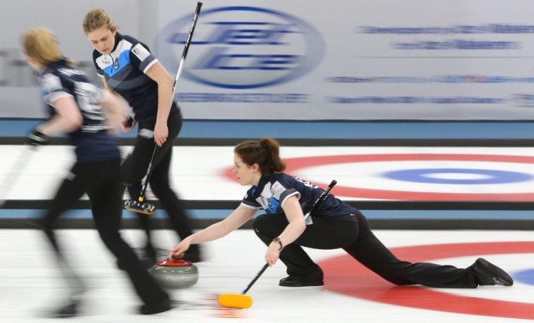 Scotland defeated Japan at the  World Junior Curling Championships 9-4 today ©WCF