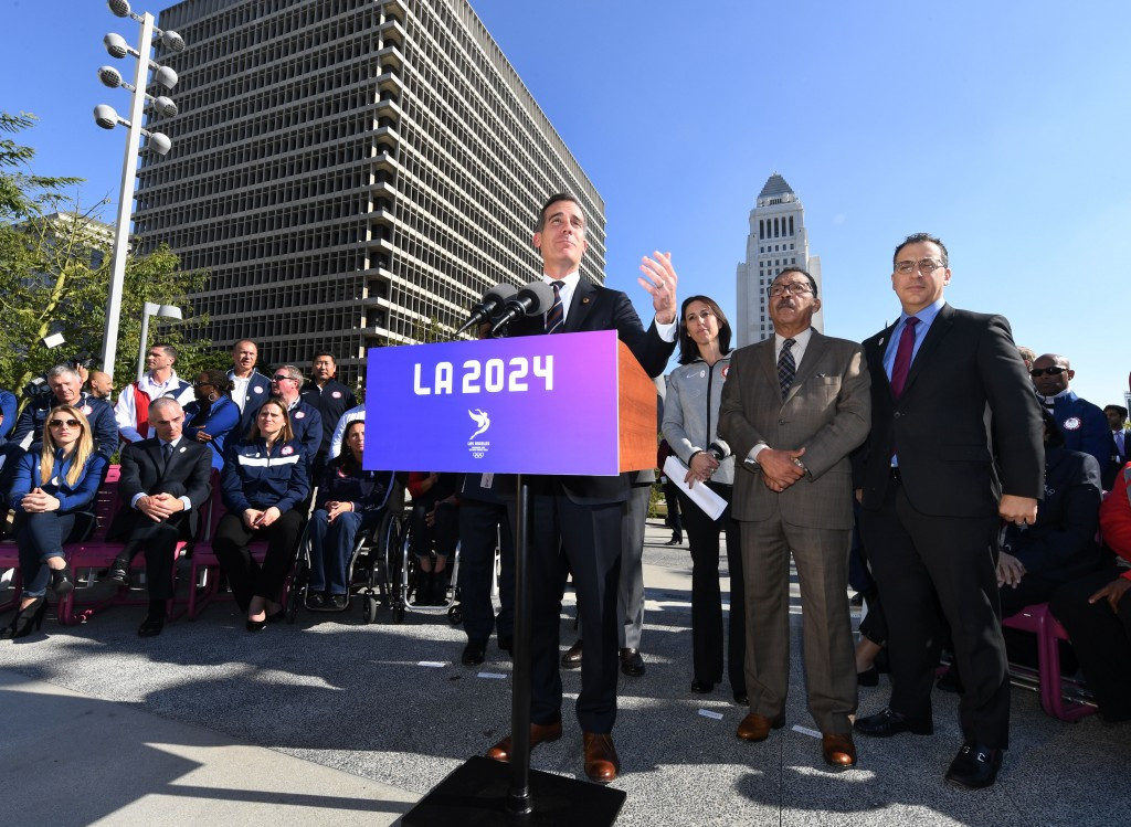 Los Angeles 2024 could - possibly - become Los Angeles 2028 ©Getty Images