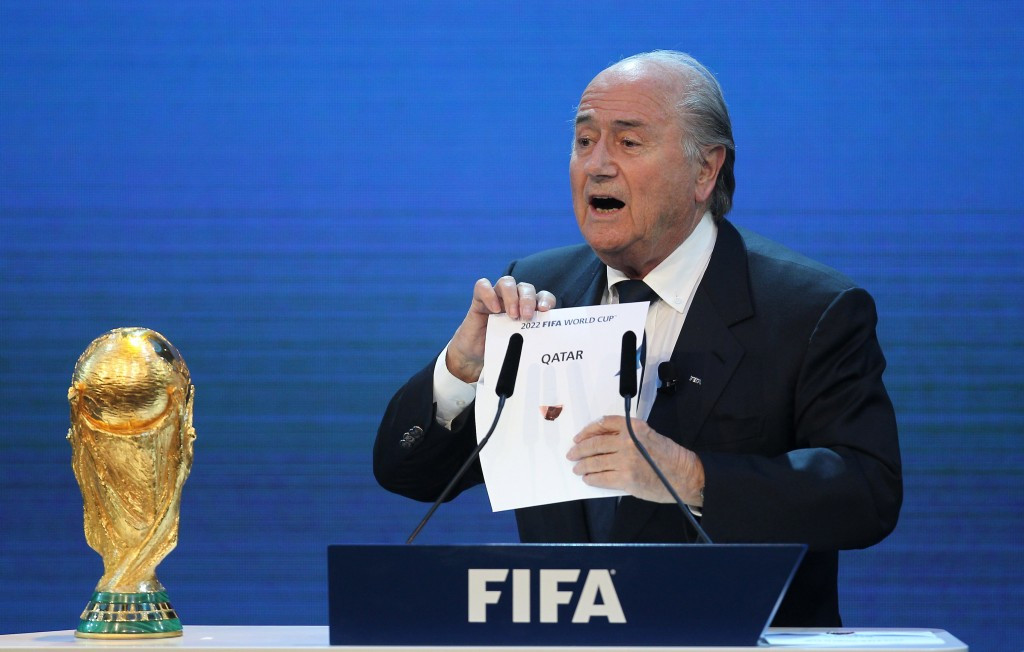 FIFA, under former President Sepp Blatter, controversially awarded the 2018 and 2022 World Cups together in 2010 to Russia and Qatar respectively ©Getty Images