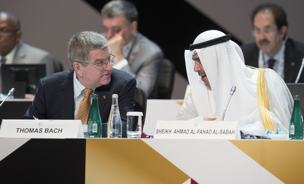 Sheikh Ahmad was a key ally of Thomas Bach during his successful election campaign in 2013 and first four years as IOC President but has so far declined to back plans to award the 2024 and 2028 Olympics together ©Getty Images