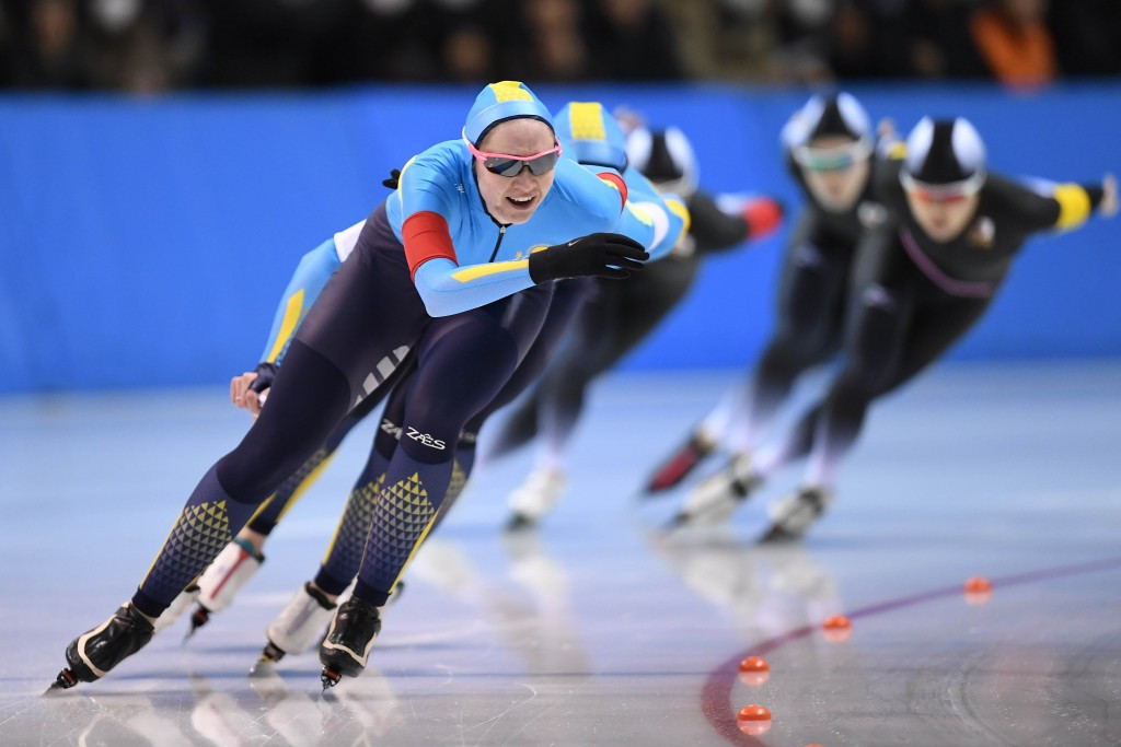Women's team pursuit competitions were among speed skating finals today ©Getty Images