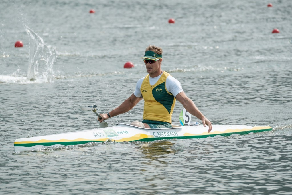 Australia's Curtis McGrath won the men's KL2 200 metres race during canoe's Paralympic debut at Rio 2016 ©Getty Images