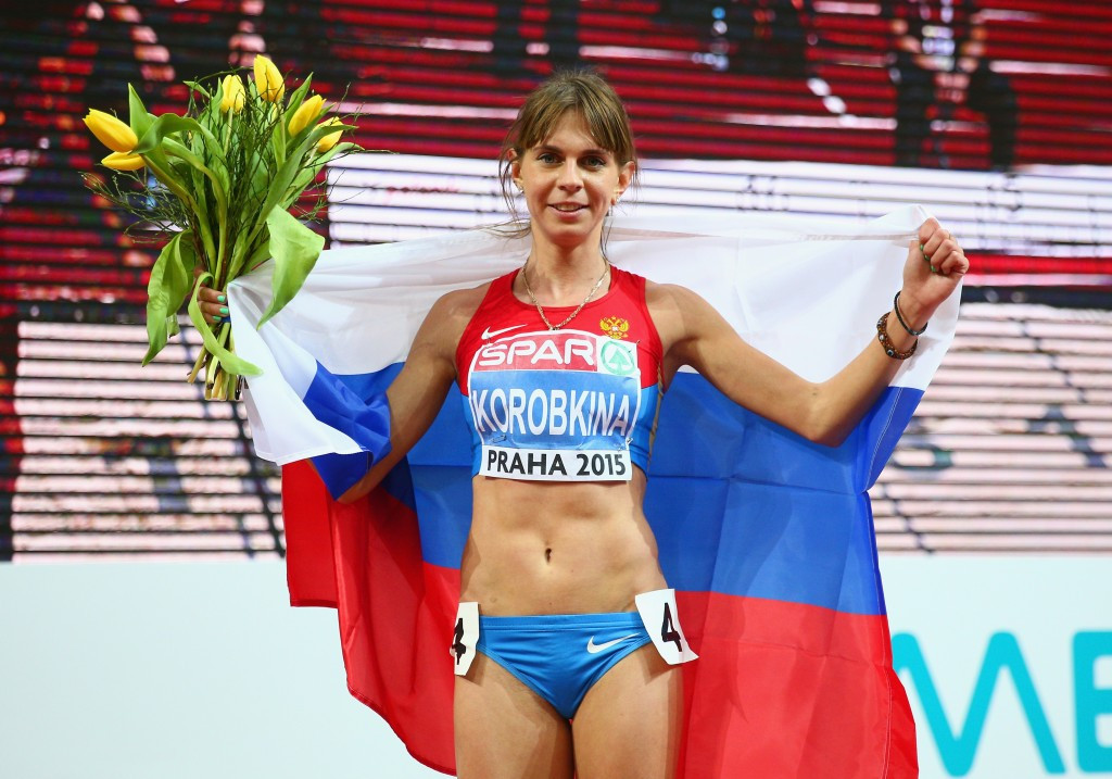 Russian middle-distance runner Yelena Korobkina has claimed she will not participate at next month's European Indoor Championships ©Getty Images